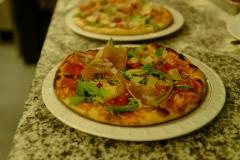Pizza roquette jambon