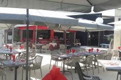 Terasse restaurant italien pizzeria Casa Aurelisa Obernai